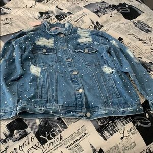 Pearl Mixed Denim Jacket